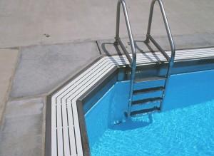 swimming pool gutter