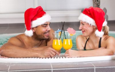 Holiday hot tub fun